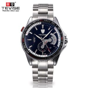 TEVISE Mechanical Luminous Stainless Steel Watch – 796A