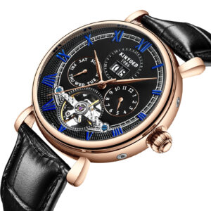 KINYUED Men's Leather Mechanical Watch