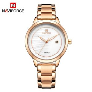High Quality NAVIFORCE NF5008 Ladies Quartz Watch 2019 Classic Design With Auto Date Ladies Watches